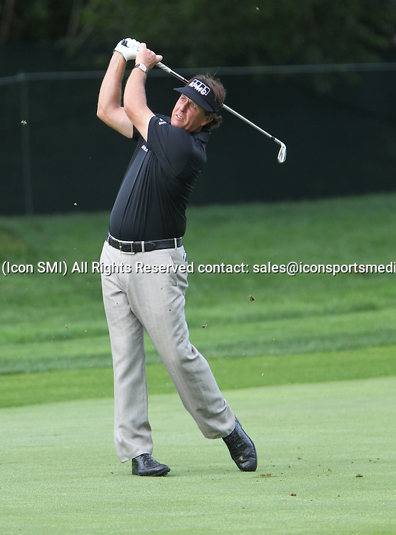 August 06, 2013 Phil Mickleson during a practice round at the 95th PGA Championship at Oak Hill Country Club in Rochester, New York.