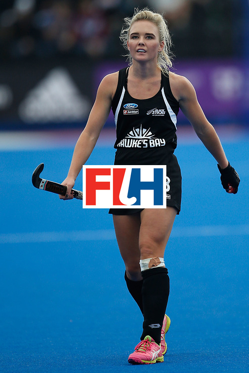 LONDON, ENGLAND - JUNE 19:  Charlotte Harrison of New Zealand during the FIH Women's Hockey Champions Trophy 2016 match between Australia and New Zealand at Queen Elizabeth Olympic Park on June 19, 2016 in London, England.  (Photo by Joel Ford/Getty Images)