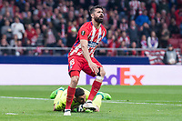 Atletico de Madrid Diego Costa and Sporting de Lisboa Rui Patricio during UEFA Europa League match between Atletico de Madrid and Sporting de Lisboa at Wanda Metropolitano in Madrid, Spain. April 05, 2018. (ALTERPHOTOS/Borja B.Hojas)