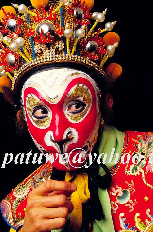 Monkey god, Sun Wu Kung, in Peking opera performance, Peking, china