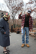 Manhattan, NY. Dec. 4, 2013. Ricky, Doris and Little Doris at the park. 12042013. Photo by Kayle Hope Schnell/CUNY Photo Wire.