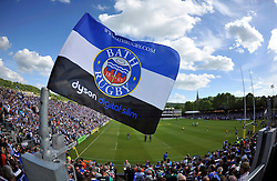 A general view of a Bath Rugby flag prior to the match - Photo mandatory by-line: Patrick Khachfe/JMP - Mobile: 07966 386802 23/05/2015 - SPORT - RUGBY UNION - Bath - The Recreation Ground - Bath Rugby v Leicester Tigers - Aviva Premiership Semi-Final