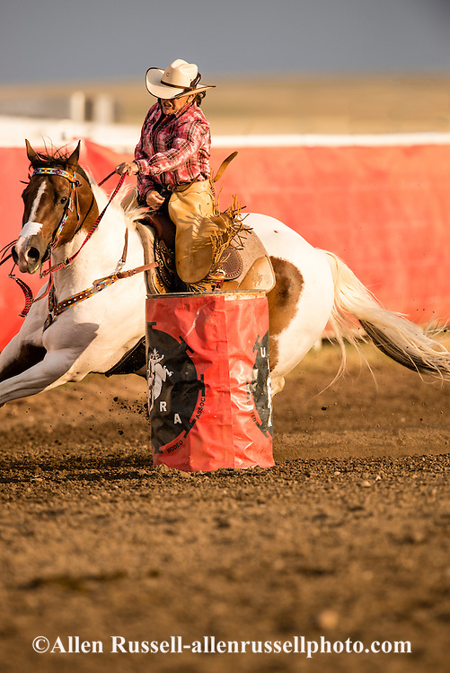 Rocky Boy Rodeo, Barrel Racer, Rocky Boy Indian Reservation, Montana, Indian Cowboys, Donna Small, 2011 INFR World Champion