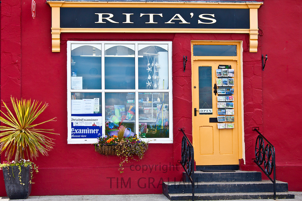 Rita's general store, newagents and gift shop in Courtmacsherry, West Cork, Ireland