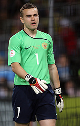 Goalkeeper of Russia Igor Akinfeev of Russia (1) during the UEFA EURO 2008 Group D soccer match between Sweden and Russia at Stadion Tivoli NEU, on June 18,2008, in Innsbruck, Austria. Russia won 2:0. (Photo by Vid Ponikvar / Sportal Images)
