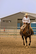 Will James Roundup, Ranch Rodeo, prepares for Working Ranch Horse, Hardin, Montana, Reata Brannaman.
