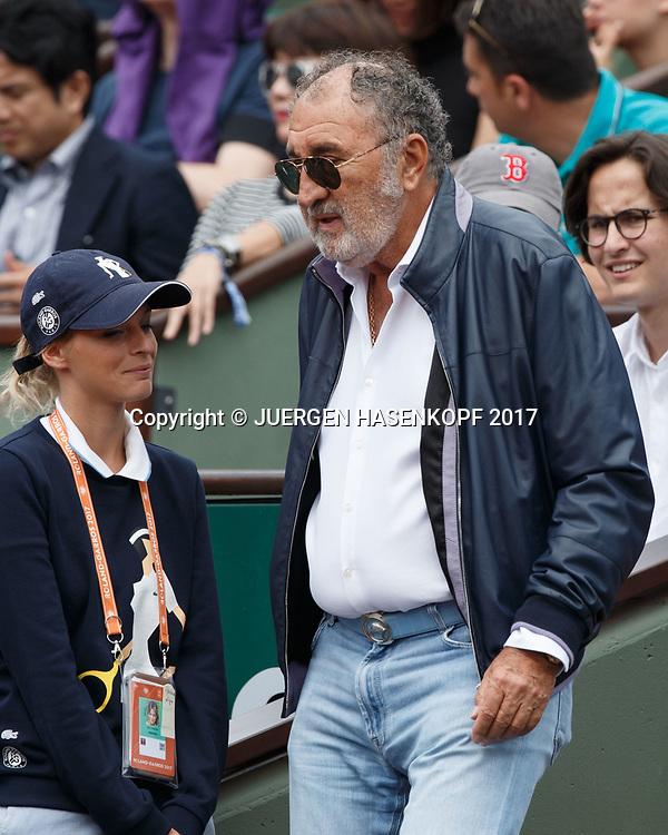 Tennis Impresario ION TIRIAC (ROU) kommt in seine VIP Loge,<br /> <br /> Tennis - French Open 2017 - Grand Slam / ATP / WTA / ITF -  Roland Garros - Paris -  - France  - 3 June 2017.