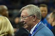 Sir Alex Ferguson during the NBA London Game match between Philadelphia 76ers and Boston Celtics at the O2 Arena, London, United Kingdom on 11 January 2018. Photo by Martin Cole.
