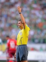 Fussball   1. Bundesliga   3. Spieltag    Saison 2009/2010 VfL Wolfsburg - Hamburger SV     23.08.09 Schiedsrichter Knut KIRCHER (Rottenburg).