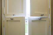 Detail of washroom shutters