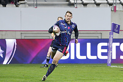 December 8, 2017 - Paris, France, France - Essai de Martial pour le Stade Francais (Credit Image: © Panoramic via ZUMA Press)
