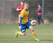 FODBOLD: Andreas Jensen (Ølstykke FC) under kampen i Serie 1 mellem Helsinge Fodbold og Ølstykke FC den 14. april 2018 på Helsinge Stadion. Foto: Claus Birch.