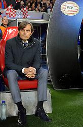 08-12-2015 NED: UEFA CL PSV - CSKA Moskou, Eindhoven<br /> PSV wint met 2-1 en plaatst zich voor de volgende ronde in de CL / Coach Phillip Cocu