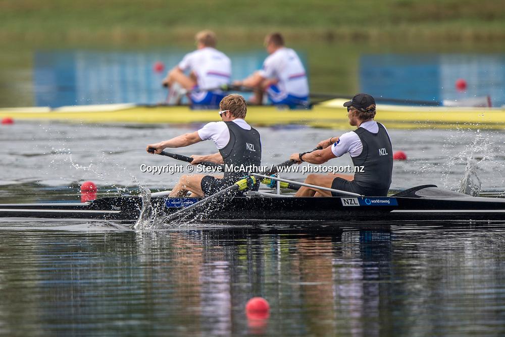 James Hunter and Tom Murray New Zealand Mens Coxless Pair<br /> <br /> Finals races at the World Championships, Sarasota, Florida, USA Saturday 30 September 2017. Copyright photo &copy; Steve McArthur / www.photosport.nz