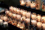 Candles in chuch of Honfleur, Calvados, Basse Normandie, France