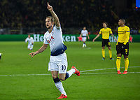 Football - 2018 / 2019 UEFA Champions League - Round of Sixteen, Second Leg: Borussia Dortmund (0) vs. Tottenham Hotspur (3)<br /> <br /> Harry Kane (Tottenham FC) turns away after scoring the opening goal of the game at Signal Iduna Park (Westfalenstadion).<br /> <br /> COLORSPORT/DANIEL BEARHAM