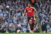 Anthony Martial of Manchester United during the Barclays Premier League match between Manchester City and Manchester United at the Etihad Stadium, Manchester, England on 20 March 2016. Photo by Phil Duncan.