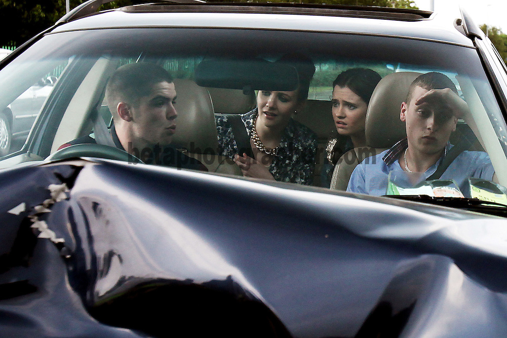 Fair City Eps 110<br /> TX: Wednesday 10  July, 2013<br /> Callum realising he has messed up begin to panic<br /> L-R<br /> Callum - Sean Doyle<br /> Charlotte - Martha Fitzpatrick<br /> Rachel - Niamh Quirke<br /> Doug - Wesley Doyle