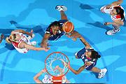 DESCRIZIONE : Riga Latvia Lettonia Eurobasket Women 2009 Final Russia Francia Russia France<br /> GIOCATORE : Sandrine Gruda Emmeline Ndongue<br /> SQUADRA : Francia France<br /> EVENTO : Eurobasket Women 2009 Campionati Europei Donne 2009 <br /> GARA : Russia Francia Russia France<br /> DATA : 20/06/2009 <br /> CATEGORIA : rimbalzo super<br /> SPORT : Pallacanestro <br /> AUTORE : Agenzia Ciamillo-Castoria/E.Castoria<br /> Galleria : Eurobasket Women 2009 <br /> Fotonotizia : Riga Latvia Lettonia Eurobasket Women 2009 Final Russia Francia Russia France<br /> Predefinita :