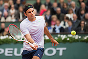 Paris, France. Roland Garros. May 26th 2013.<br /> Swiss player Roger FEDERER against Pablo CARRENO-BUSTA