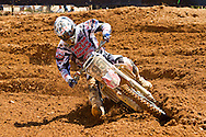 Agueda, Portugal, 5th May 2013, World Championship MX1, Ltavian Augusts Justs with a Honda, 16th race 1 and  16th in race 2