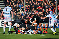 Rugby Union - 2019 / 2020 European Rugby Heineken Champions Cup - Pool Four: Saracens vs. Racing 92<br /> <br /> Saracens' Billy Vunipola looks on before going off injured in the 8th minute, at Allianz Park.<br /> <br /> COLORSPORT/ASHLEY WESTERN