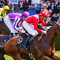Le Brivido (PC. Boudot) (red cap with dots) wins Gr.3 The Jersey Stakes, Ascot 21/06/2017, photo: Zuzanna Lupa / Racingfotos.com