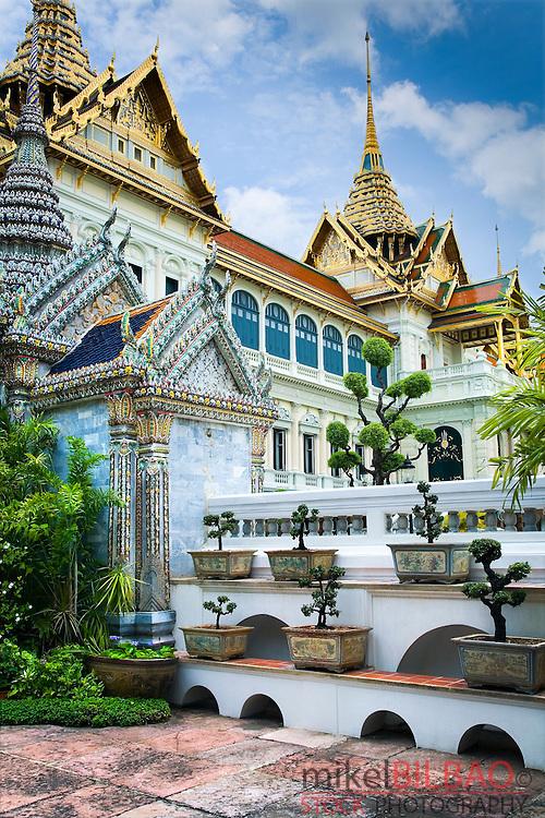 The Phra Thinang Chakri Mahaprasat buildings. Grand Palace. Bangkok, Thailand