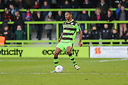 Forest Green Rovers Ethan Pinnock(16) passes the ball during the Vanarama National League match between Forest Green Rovers and Aldershot Town at the New Lawn, Forest Green, United Kingdom on 5 November 2016. Photo by Shane Healey.