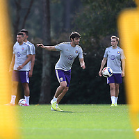 Soccer player Kaka is seen during the first day of MLS soccer team practice for the Orlando City Soccer Club at Sylvan Lake Park on Friday, January 23, 2015 in Sanford,Florida. (AP Photo/Alex Menendez)