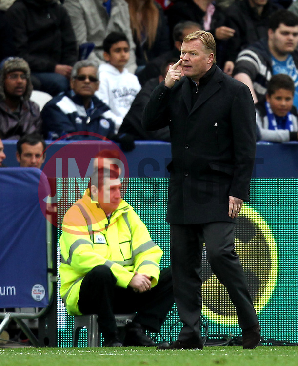 Southampton Manager, Ronald Koeman - Photo mandatory by-line: Robbie Stephenson/JMP - Mobile: 07966 386802 - 09/05/2015 - SPORT - Football - Leicester - King Power Stadium - Leicester City v Southampton - Barclays Premier League