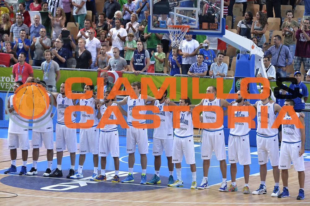 DESCRIZIONE : Capodistria Koper Slovenia Eurobasket Men 2013 Preliminary Round Italia Turchia Italy Turkey<br /> GIOCATORE : Team<br /> CATEGORIA : Presentazione<br /> SQUADRA : Italia<br /> EVENTO : Eurobasket Men 2013<br /> GARA : Italia Turchia Italy Turkey<br /> DATA : 05/09/2013<br /> SPORT : Pallacanestro&nbsp;<br /> AUTORE : Agenzia Ciamillo-Castoria/GiulioCiamillo<br /> Galleria : Eurobasket Men 2013 <br /> Fotonotizia : Capodistria Koper Slovenia Eurobasket Men 2013 Preliminary Round Italia Turchia Italy Turkey<br /> Predefinita :