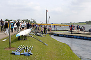 2008 National Schools Regatta, Great Britain, General Views of the Rowing Course and Boathouse and structures,  at Holme Pierrepont, Nottingham, ENGLAND,  Saturday,  24/05/2008.  [Mandatory Credit:  Peter Spurrier/Intersport Images]