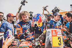 Toby Price (AUS) of Red Bull KTM Factory Team at the finish line after he wins the Rally Dakar 2019 , Peru on January 17, 2019. // Flavien Duhamel/Red Bull Content Pool // AP-1Y5HCGUK52111 // Usage for editorial use only // Please go to www.redbullcontentpool.com for further information. //