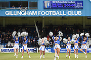 Pre-match entertainment by the GFC GEMS before the Sky Bet League 1 match between Gillingham and Port Vale at the MEMS Priestfield Stadium, Gillingham, England on 16 April 2016. Photo by Martin Cole.
