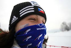 Fan of Czech republic at Ladies` Pursuit 7,5 km Classic + 7,5 km Free at FIS Nordic World Ski Championships Liberec 2008, on February 21, 2009, in Vestec, Liberec, Czech Republic. (Photo by Vid Ponikvar / Sportida)