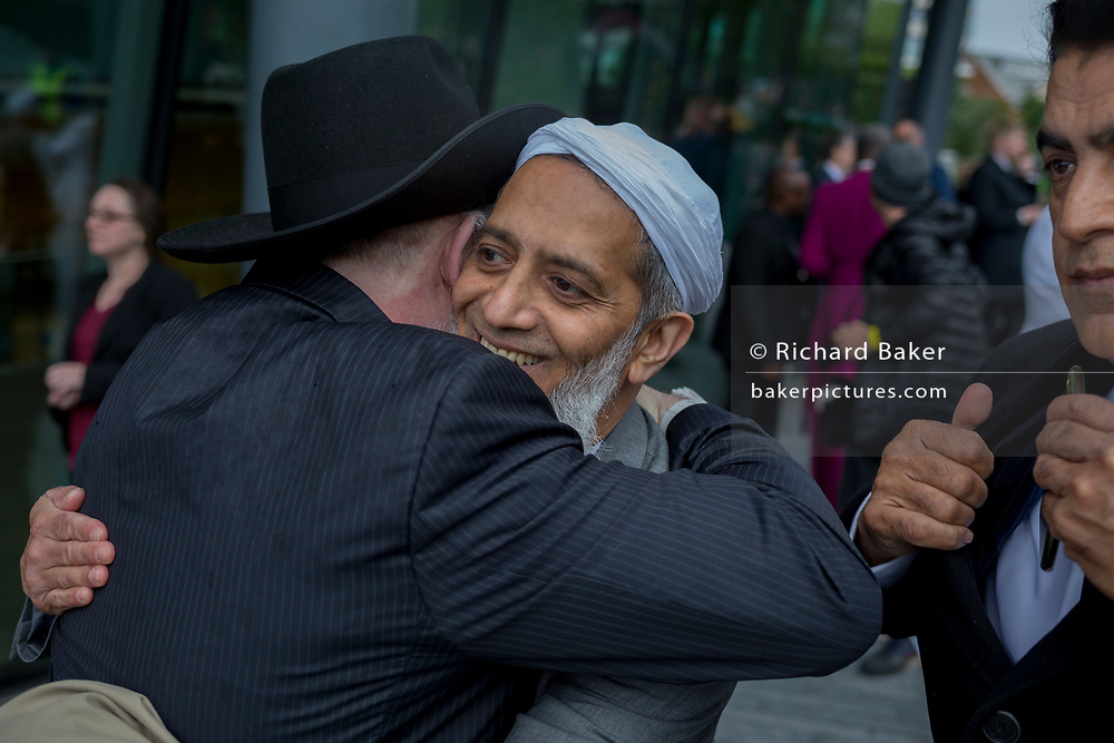 Two days after the London Bridge and Borough Market terrorist attack, Londoners from all faiths and religions attended a vigil outside City Hall, on Monday 5th June 2017, in the south London borough of Southwark, England. Rabbi Abraham Pinter chatted to Shiraz Kothia while a prominent armed police presence guarded dignitaries and the public who came to the Southbank to remember the seven killed and many others left with life-changing injuries. The British spirit of defiance and to carry on with every day life, endures.