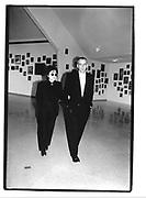 Yoko ono and sam Havotoy at the Ross Bleckner Opening, Guggenhein© Copyright Photograph by Dafydd Jones 66 Stockwell Park Rd. London SW9 0DA Tel 020 7733 0108 www.dafjones.com