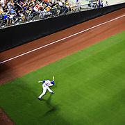 Pitcher Matt Harvey, New York Mets, warming up before the New York Mets V Arizona Diamondbacks Major League Baseball game  at Citi Field, Queens, New York. USA. 3rd July 2013. Photo Tim Clayton