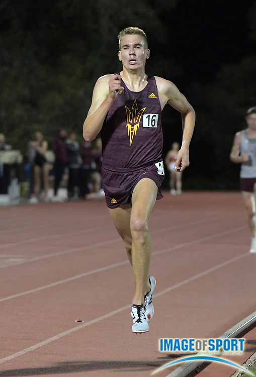 John Reniewicki, of Arizona State places second in the 10,000m in 29:32.52 during the Bryan Clay Invitational in Azusa, Calif., Wednesday, April 17, 2019.