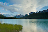 Clearing evening storm over Waterfowl Lake, Banff National Park Alberta Canada