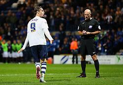 Will Keane of Preston North End celebrates after scoring his penalty - Mandatory byline: Matt McNulty/JMP - 07966386802 - 22/09/2015 - FOOTBALL - Deepdale Stadium -Preston,England - Preston North End v Bournemouth - Capital One Cup - Third Round