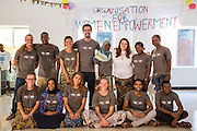 The VSO ICS volunteers ready for the Community Action Day CAD held for local members of the community in Y2K Hall Lindi, Lindi region. Tanzania.