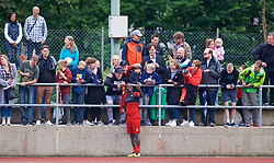 ROTTACH-EGERN, GERMANY - Friday, July 28, 2017: Liverpool's Sadio Mane poses for a photograph with supporter after a training session at FC Rottach-Egern on day three of the preseason training camp in Germany. (Pic by David Rawcliffe/Propaganda)