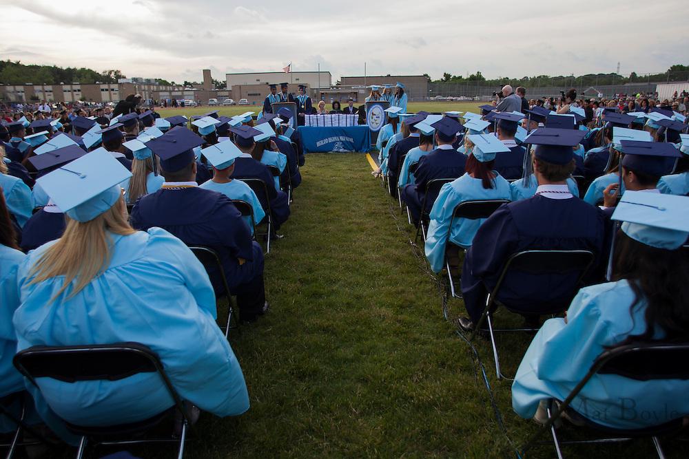 The Valedictorians give a  speech during Highland Regional High School graduation on Thursdays June 14, 2012 . (photo / Mat Boyle)