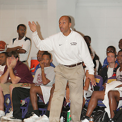 2008 November 13: Coach Earl Guaff during a 39-25 win by the Hammond Tornados over the St. Thomas Aquinas Falcons during the Independence prep basketball jamboree at the Independence High School Gym in Independence, LA.