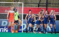 ROTTERDAM - USA scoren 0-1 ,    tijdens de Pro League hockeywedstrijd dames, Netherlands v USA (7-1)  .  COPYRIGHT  KOEN SUYK