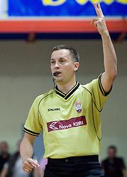 Referee Sasa Pukl at second finals basketball match of Slovenian Men UPC League between KK Helios Domzale and KK Union Olimpija, on May 30, 2009, in SC Domzale, Domzale, Slovenia. (Photo by Vid Ponikvar / Sportida)