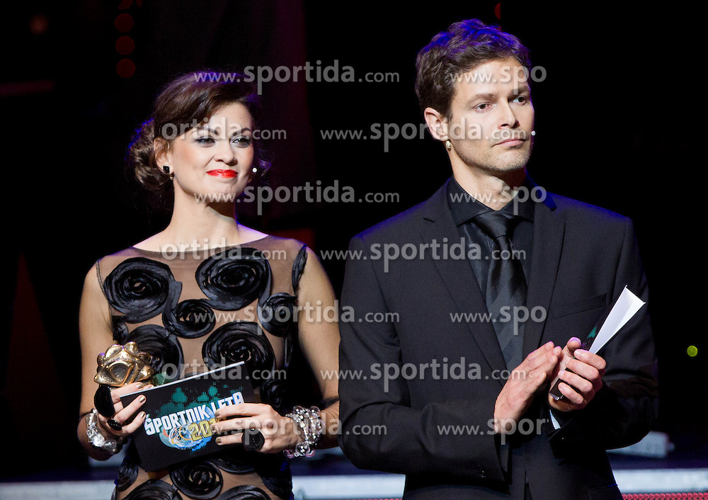 Nina Osenar and Alen Kobilica at Slovenian Sports personality of the year 2012 annual awards presented on the base of Slovenian sports reporters, on December 20, 2011 in Cankarjev dom, Ljubljana, Slovenia. (Photo By Vid Ponikvar / Sportida.com)