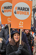 Natalie Imbruglia - #March4Women 2018, a march and rally in London to celebrate International Women's Day and 100 years since the first women in the UK gained the right to vote.  Organised by Care International the march stated at Old Palace Yard and ended in a rally in Trafalgar Square.